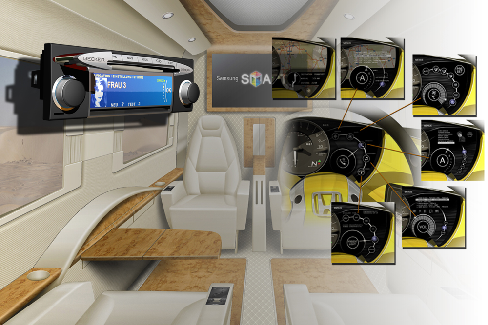Concept studies for interieur design and OEM