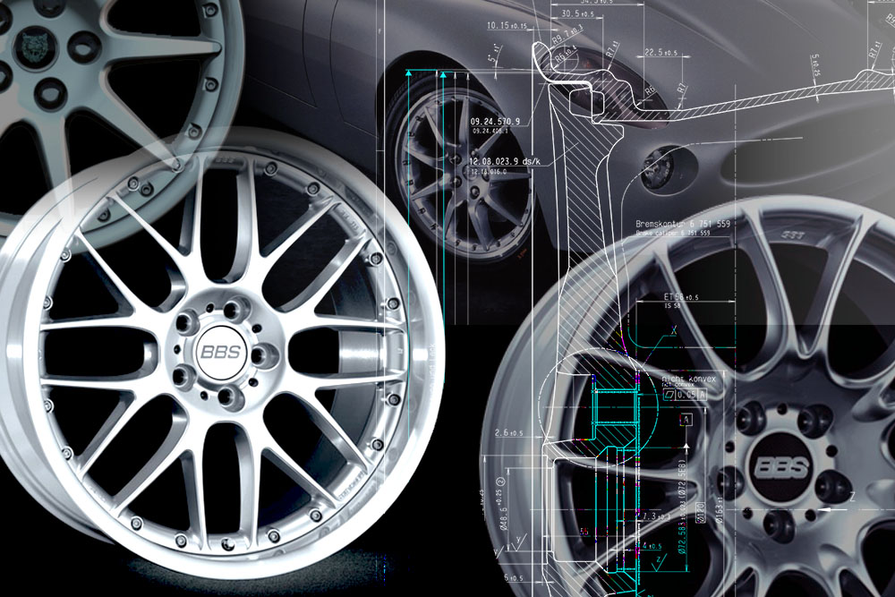 Wheel design for the wheel manufacturer BBS