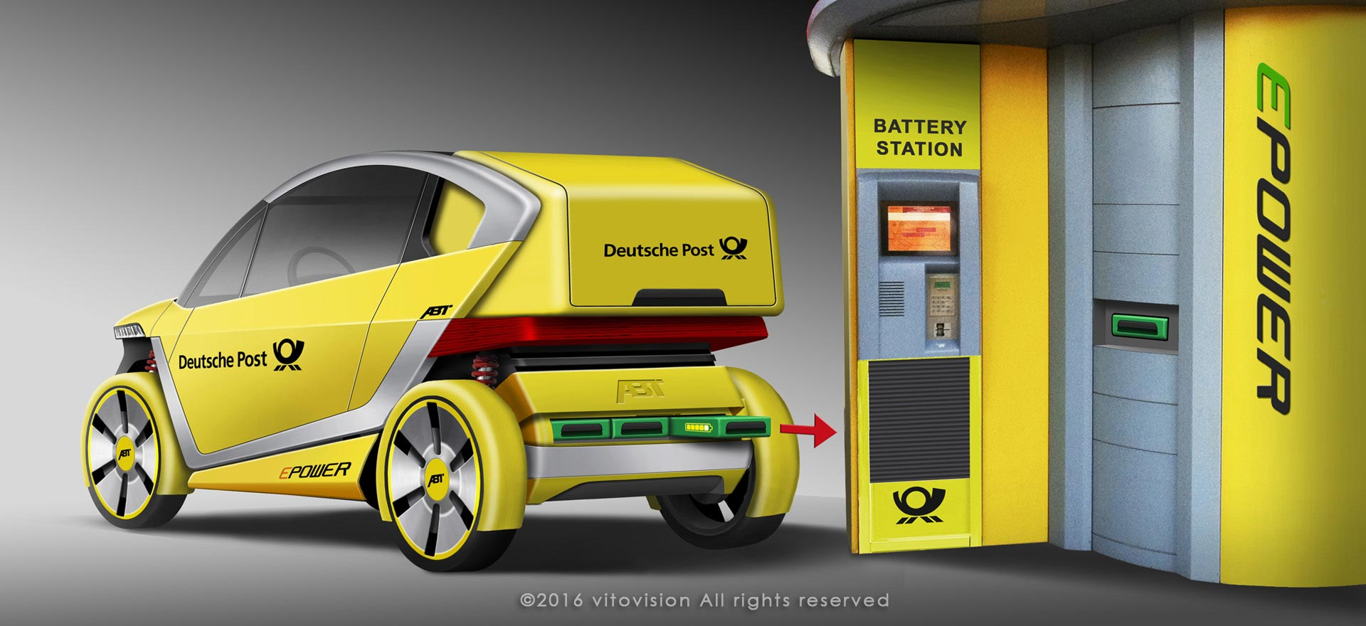 Design for post van of Abt emobility for Deutsche Post