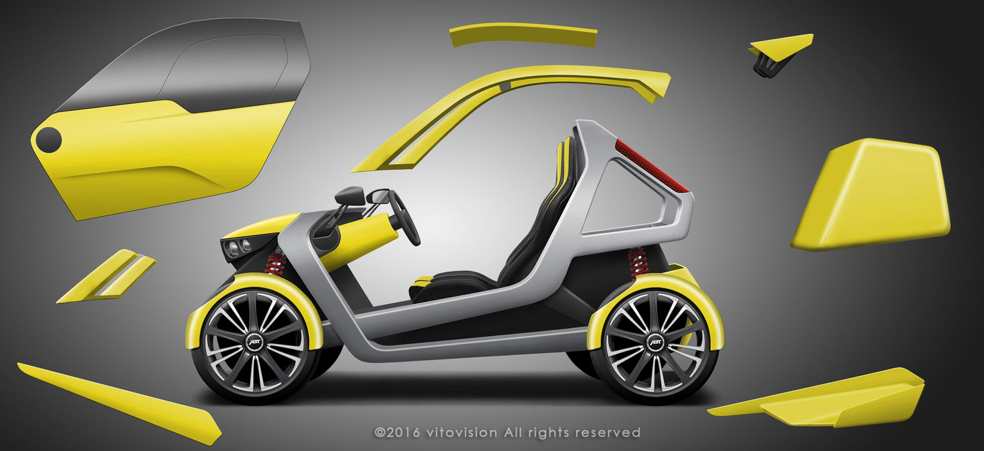 Design concept for automotive emobility