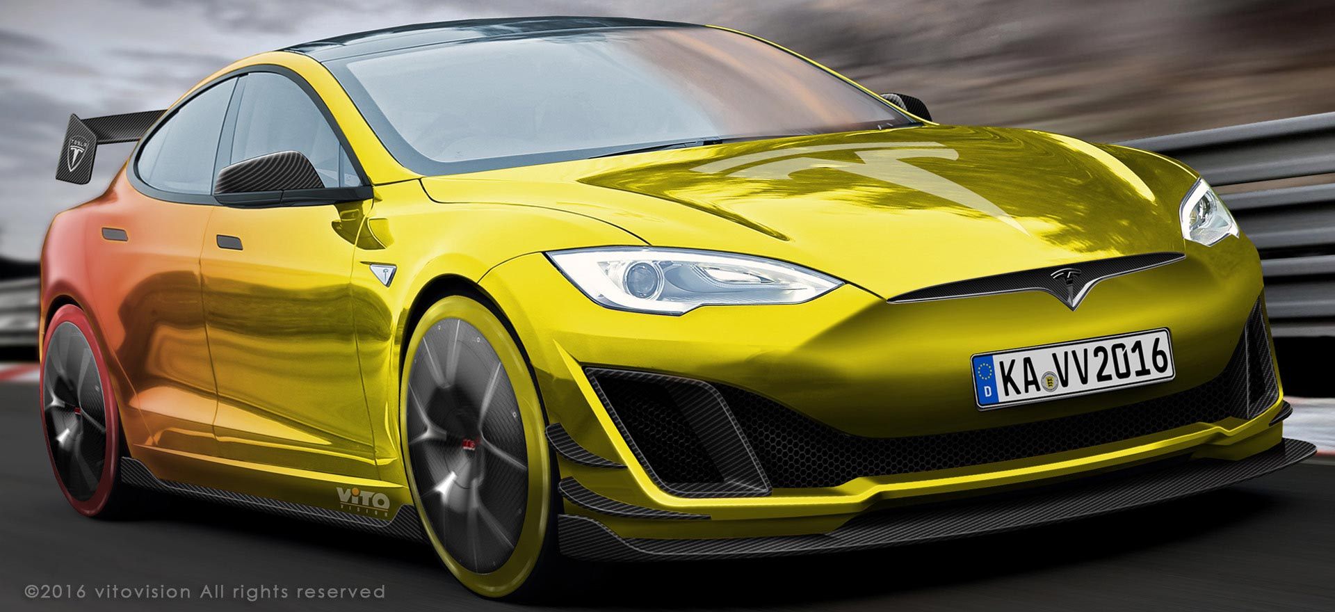Vitovision creates the automotive design for Tesla race innovation