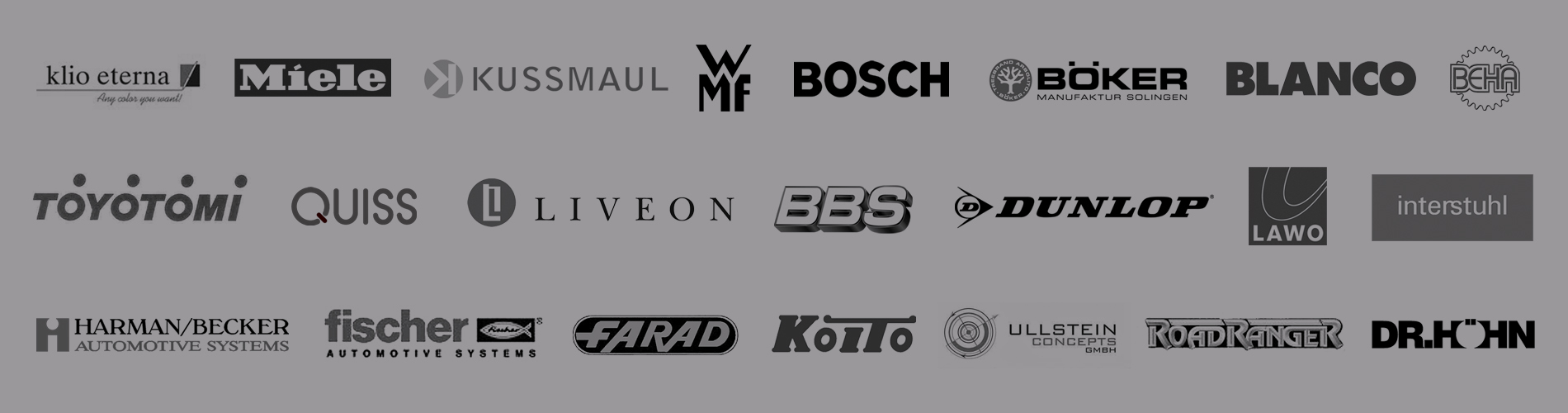 Vitovision creates the industrial design for many well-known brands like Miele, Kussmaul, WMF, Bosch, Böker, BBS and many others