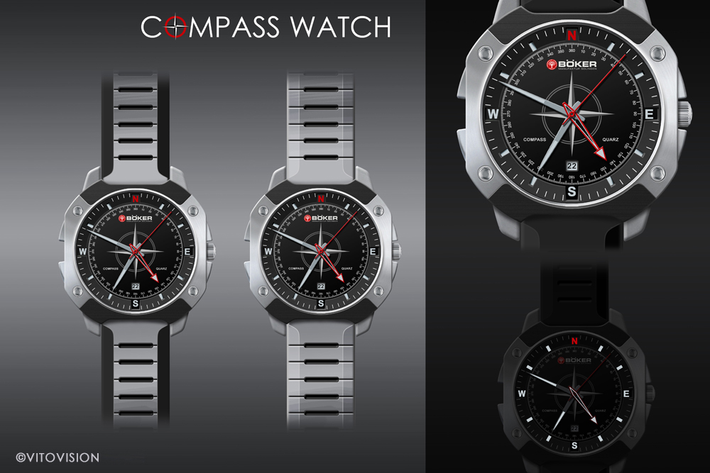 Industrial Design for the Böker Compass Watch