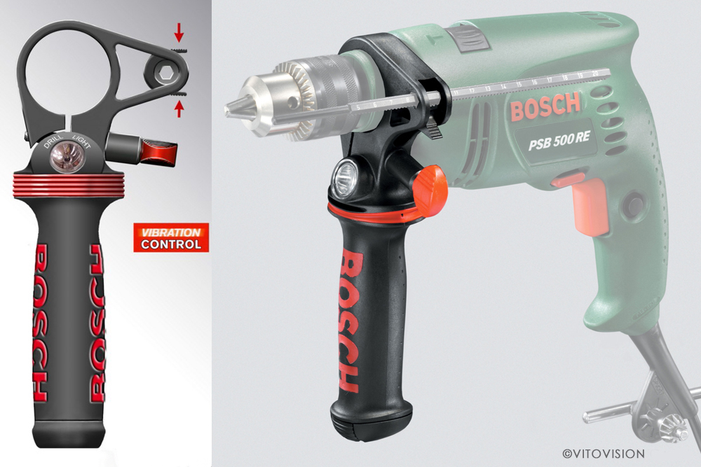 Industrial Design for impact drilling machines of the Bosch company
