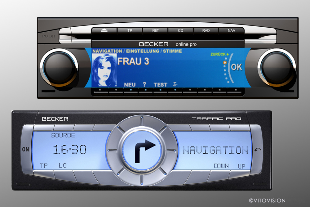 Car radio Design for Becker