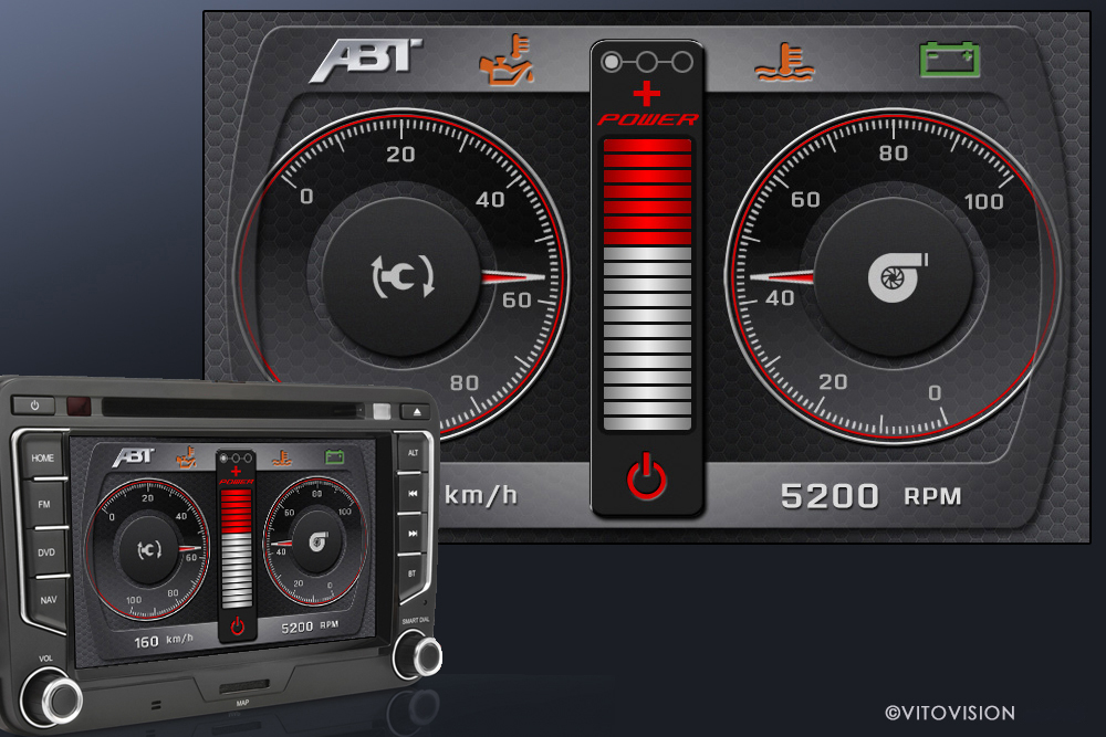 Automotive Design for tachometer in automobiles and vehicles