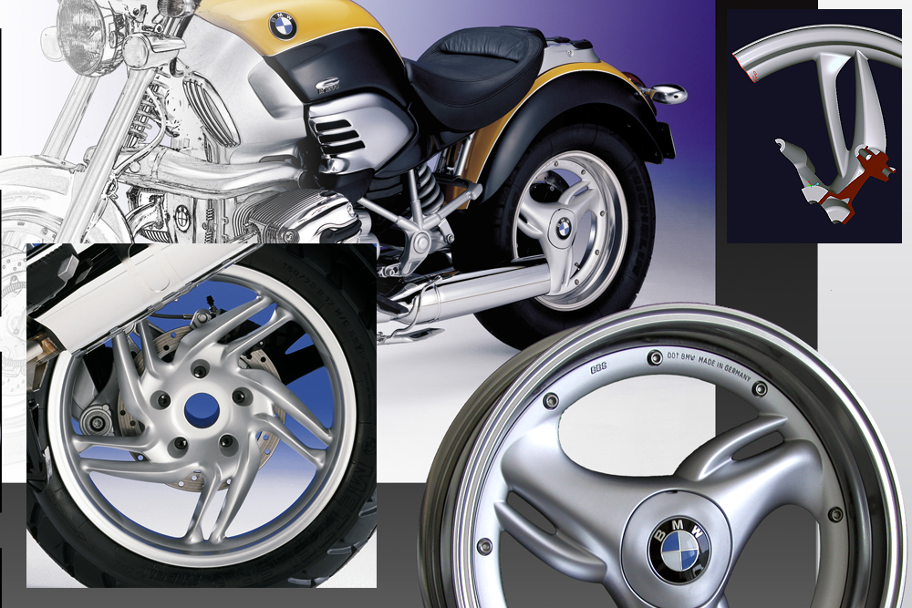 Motorcycle Design und wheel Design for BMW AG
