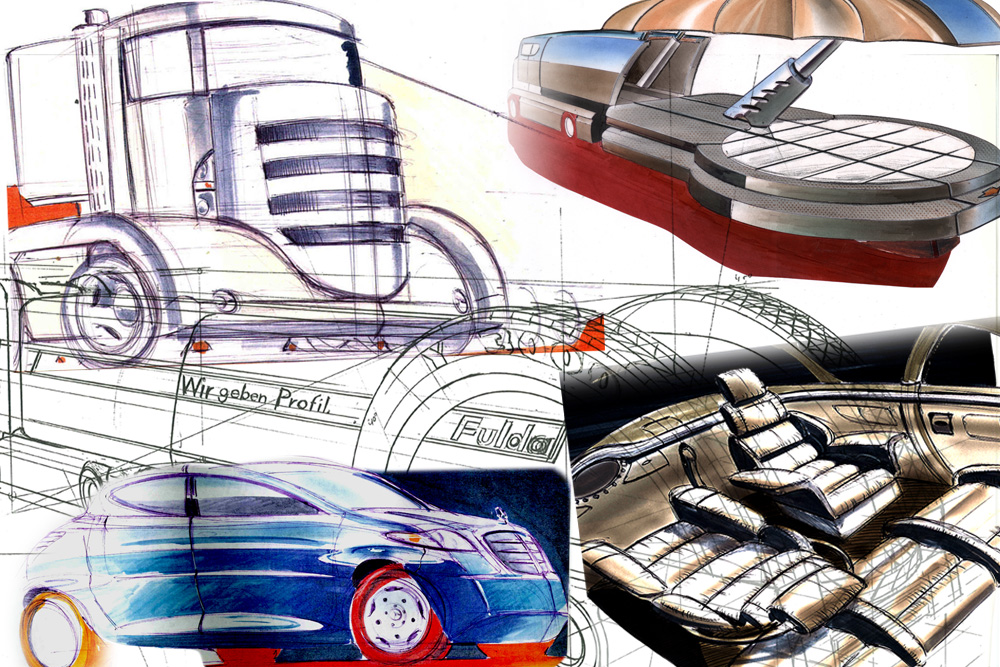 Automotive Design since 1992 for trucks, cars and interior design
