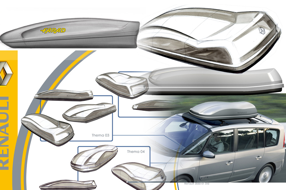 Roof box design for Farad and Renault