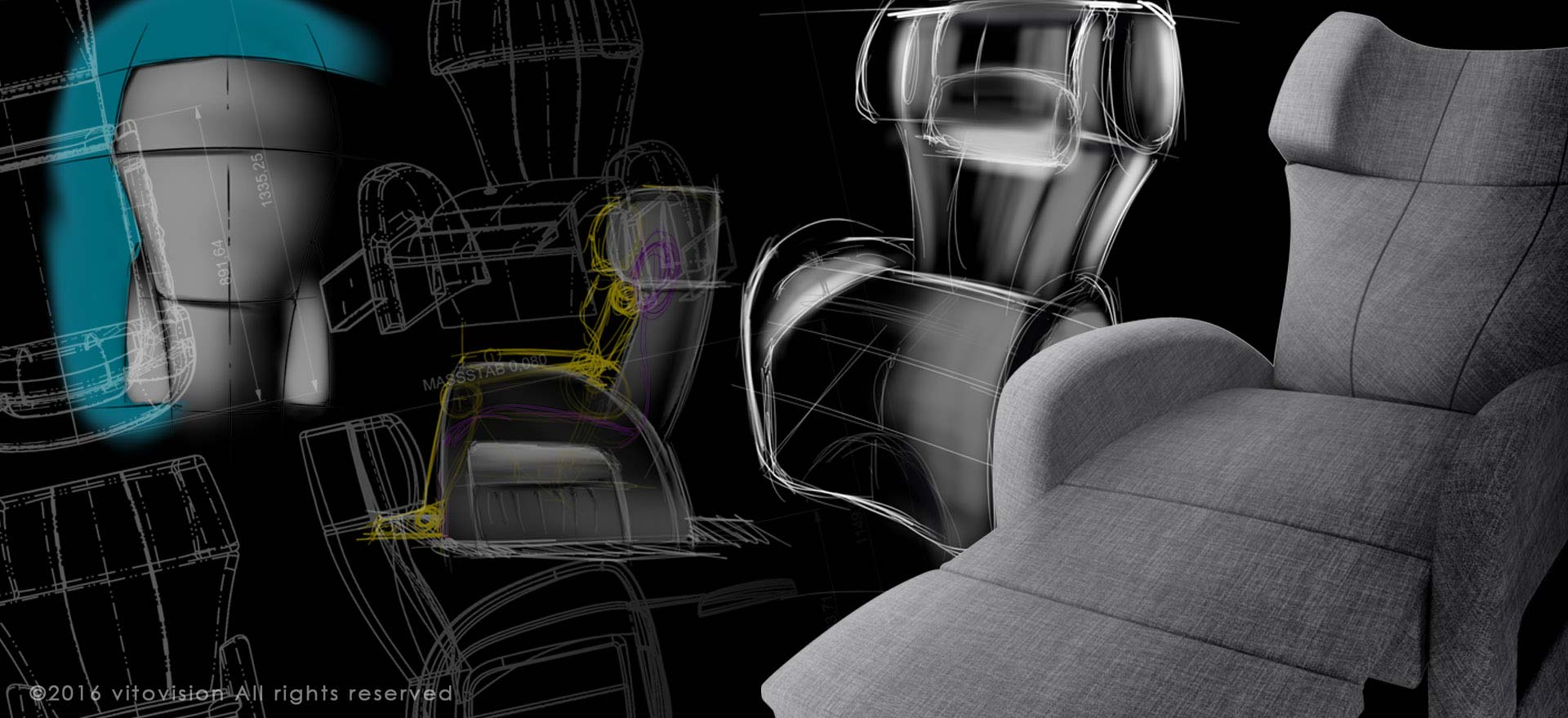 Saljol Club1 Chair Sketches by Vitovision