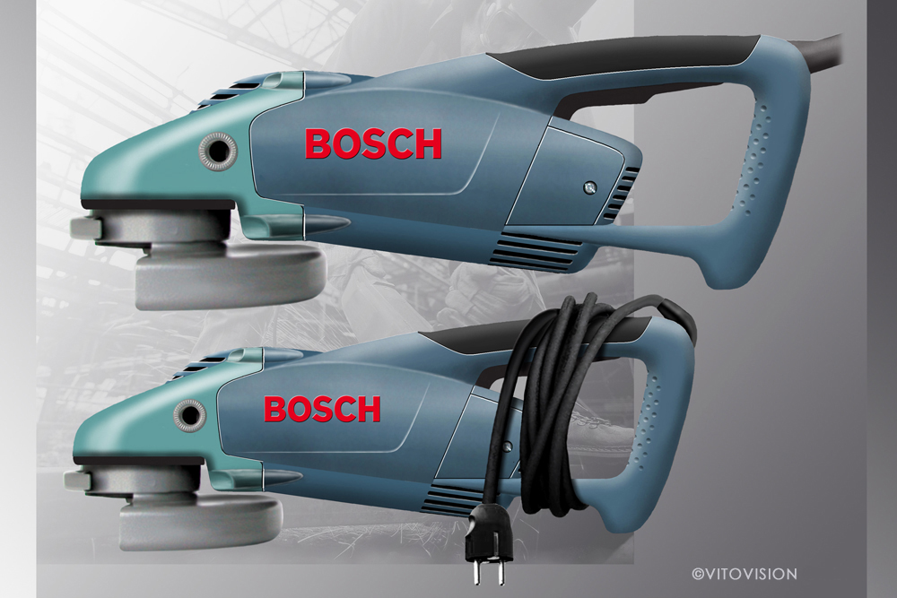 Industrial Design for grinding machines of Bosch