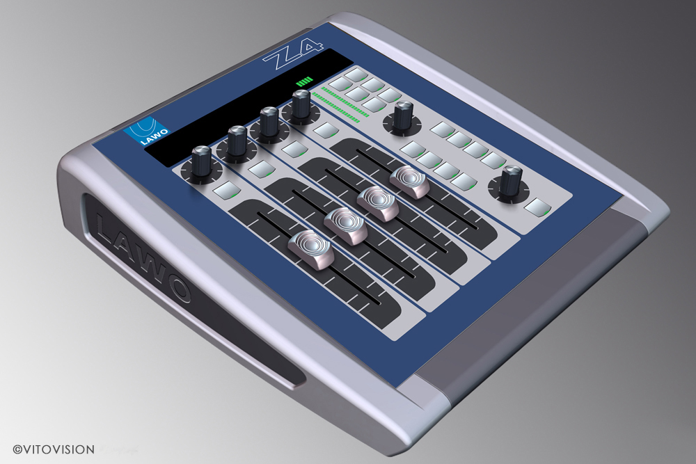 Mixer console fesign for Lawo