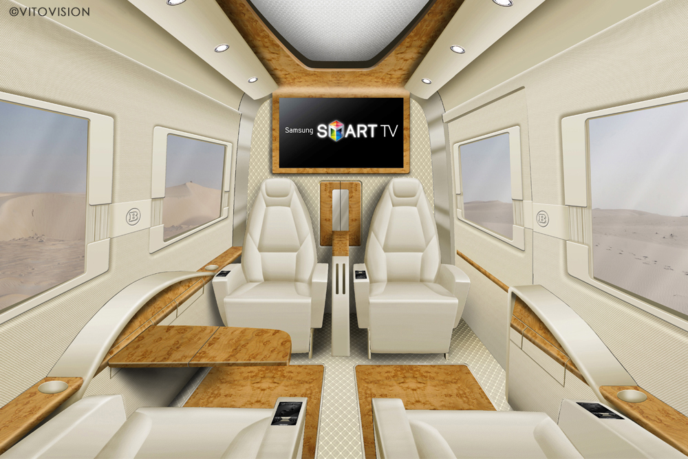 Interior Design in the transportation sector with chairs and tables