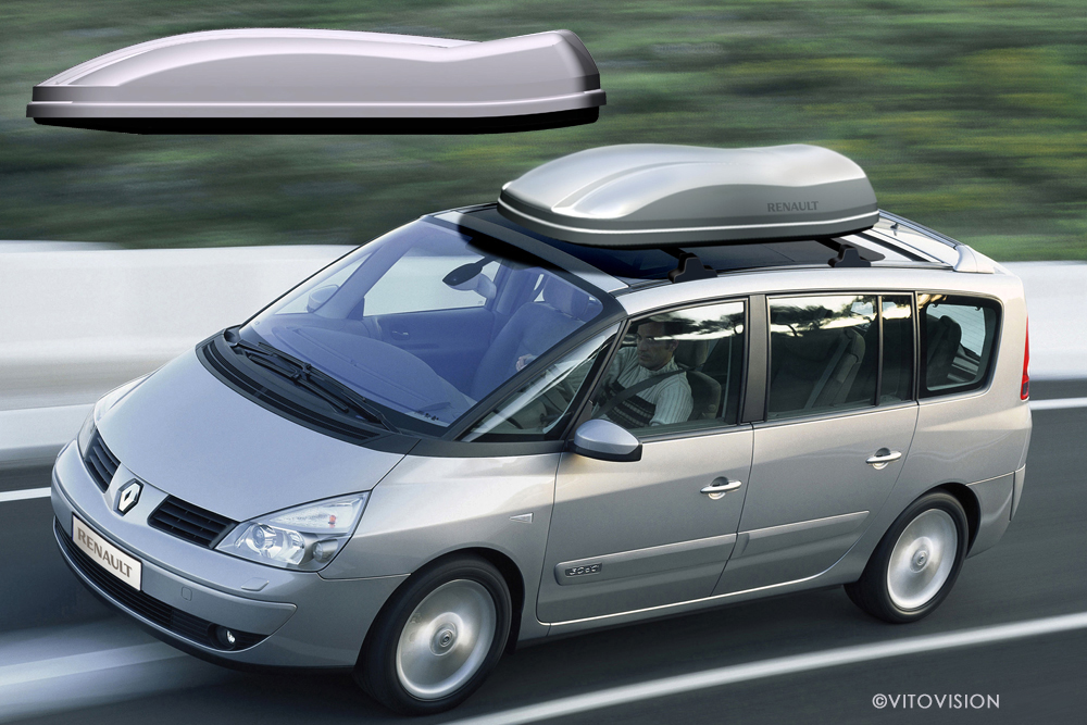 Transportation Design for the Renault Espace and a suitable roof box